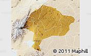 Physical Map of Kabarole, lighten