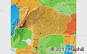 Physical Map of Kabarole, political shades outside