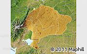 Physical Map of Kabarole, satellite outside