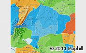 Political Shades Map of Kabarole