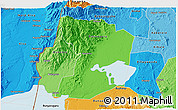 Political Shades 3D Map of Kasese