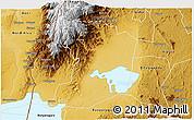 Physical 3D Map of Busongora