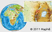 Physical Location Map of Busongora