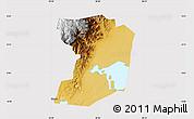 Physical Map of Busongora, cropped outside