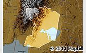 Physical Map of Busongora, darken