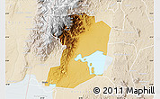 Physical Map of Busongora, lighten