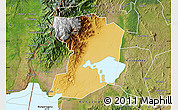 Physical Map of Busongora, satellite outside