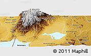Physical Panoramic Map of Busongora