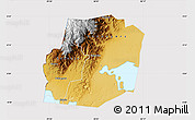 Physical Map of Kasese, cropped outside