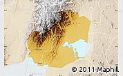Physical Map of Kasese, lighten