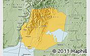 Savanna Style Map of Kasese