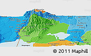 Political Shades Panoramic Map of Kasese