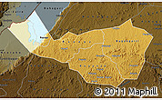 Physical Map of Kibaale, darken