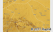 Physical 3D Map of Kiboga