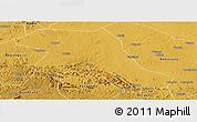 Physical Panoramic Map of Kiboga