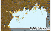 Physical Map of Lake Victoria, darken