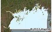 Satellite Map of Lake Victoria, darken