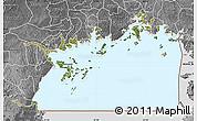 Satellite Map of Lake Victoria, desaturated