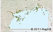 Satellite Map of Lake Victoria, lighten