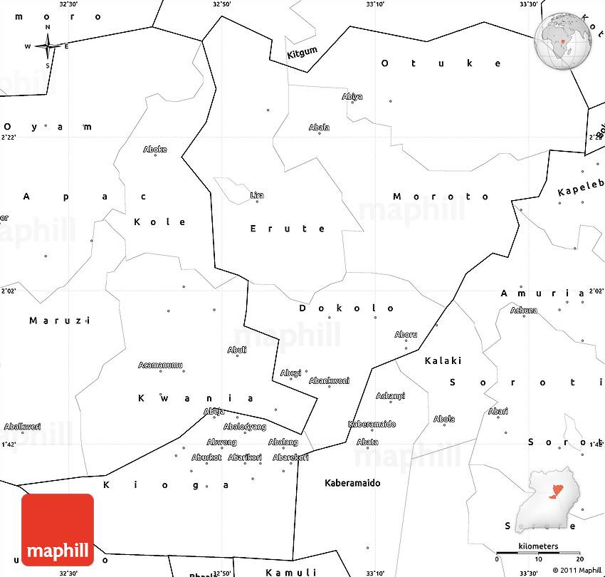 Blank Simple Map of Lira