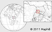 Blank Location Map of Bujenje