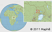 Savanna Style Location Map of Bujenje