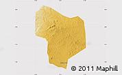 Physical Map of Kibanda, cropped outside