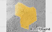 Physical Map of Kibanda, desaturated