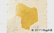 Physical Map of Kibanda, lighten