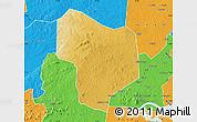 Physical Map of Kibanda, political outside