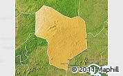 Physical Map of Kibanda, satellite outside
