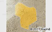 Physical Map of Kibanda, semi-desaturated
