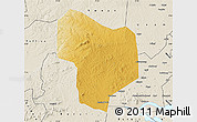 Physical Map of Kibanda, shaded relief outside