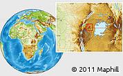 Physical Location Map of Isingiro