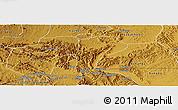 Physical Panoramic Map of Isingiro
