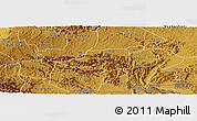 Physical Panoramic Map of Rwampara