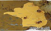 Physical Panoramic Map of Moroto, darken