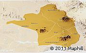 Physical Panoramic Map of Moroto, lighten