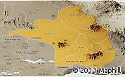 Physical Panoramic Map of Moroto, semi-desaturated