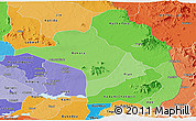 Political Shades Panoramic Map of Moroto