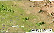 Satellite Panoramic Map of Moroto