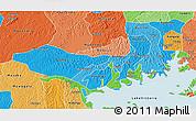 Political Shades 3D Map of Mpigi