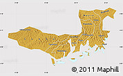 Physical Map of Mpigi, cropped outside