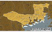 Physical Map of Mpigi, darken