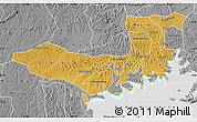 Physical Map of Mpigi, desaturated