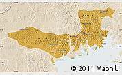 Physical Map of Mpigi, lighten