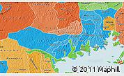 Political Shades Map of Mpigi