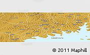 Physical Panoramic Map of Mawokota