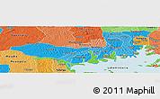 Political Shades Panoramic Map of Mpigi