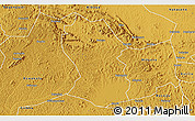 Physical 3D Map of Kassanda